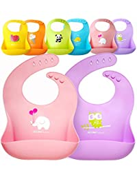 Waterproof Silicone Baby Bib Light Weight Comfortable Easy Wipe Clean