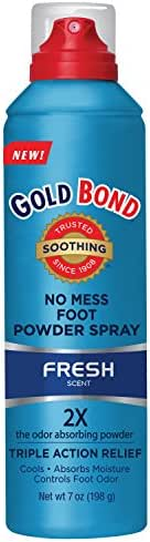 Gold Bond No Mess Foot Powder Spray Fresh 7 Ounce