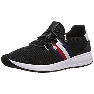 Tommy Hilfiger womens Rhena Sneaker, Black Multi, 8.5 US