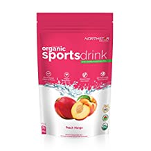 Northstar Organic, Sports Drink with Coconut Water Electrolyte, Peach/Mango Flavour Mix - 400g Bag