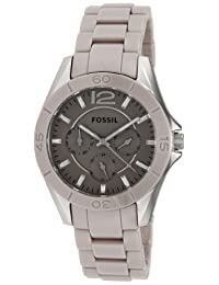 Fossil Riley CE1065 Women's Wrist Watches, Beige Dial