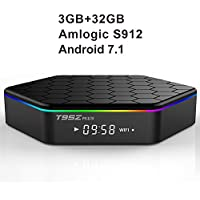 T95Z Plus Android TV Box 3GB RAM/32GB ROM Android 7.1 Octa Core Amlogic S912 TV Box support 4K Dual Band WiFi 2.4GHz/5GHz Bluetooth 4.0 HDMI Ethernet 64 Bits
