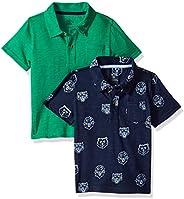 Amazon Brand - Spotted Zebra Boys Slub Jersey Short-Sleeve Polo Shirts