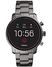 Men's Gen 4 Explorist HR Stainless Steel Touchscreen Smartwatch, Color: Smoke Grey (Model: FTW4012)
