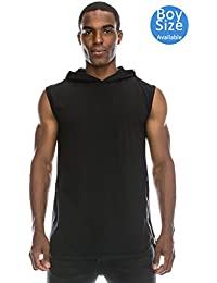 Longline Tanktop w/ Side Zippers Sleeveless Hoodie Jacket (Big Size upto 6XL)
