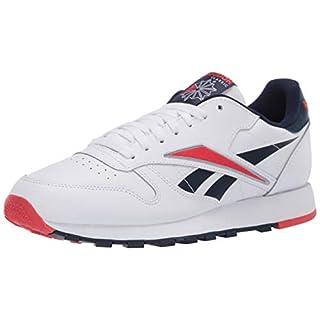 Reebok Men's Classic Leather Sneaker, White/Radiant Red/Collegiate Navy, 6.5 M US