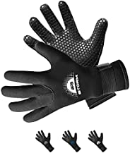 BPS 3mm & 5mm Double-Lined Neoprene Wetsuit Gloves - for Diving, Snorkeling, Kayaking, Surfing and Other W