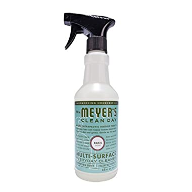 Mrs. Meyer's Multi-Surface Everyday Cleaner Basil, 16 Fluid Ounce (Pack of 3)