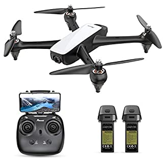 Potensic D60, GPS Drone with Camera for Adults, 1080P HD FPV 110° FOV Quadcopter, 5G WiFi, 20mins Flight Time, Follow Me, Altitude Hold, Auto Return Home, Upgrade Brushless Motor-Navy