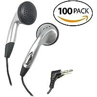 SmithOutlet 100 Pack In-Ear Bulk Earphones in Silver