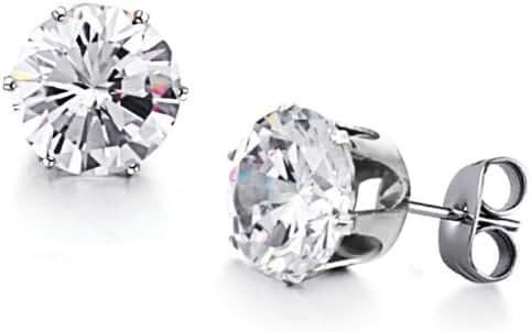 Fashion Jewelry Women's Earrings Inlaid Charming Shining Crystal Titanium Steel Girls Earrings Stud Earrings