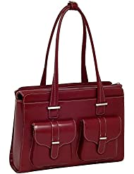 McKlein USA Alexis Genuine Leather Womens Briefcase - 15.6 Laptop Business Tote Red