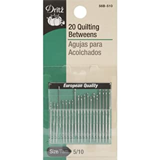 Dritz 56B-510 Quilting Betweens Hand Needles, Size 5/10 (20-Count)