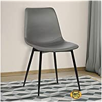 ArtMuseKit LCMOCHGREY Monte Dining Chair in Grey Faux...