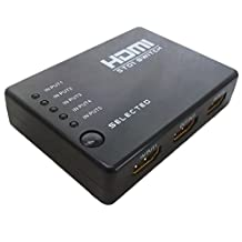C&E CNE62778 HDMI 5x1 5 Port Switch/Switcher with IR Remote Support 3D with Power Adapter