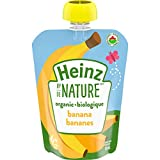 Heinz by Nature Organic Baby Food - Banana Purée - 128mL Pouch (Pack of 6)
