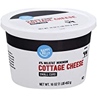 Amazon Brand - Happy Belly 4% Cottage Cheese, Small Curd, Kosher, 16 Ounce
