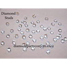 4mm Edible Diamond Studs Wedding Cake Sugar Decoration 65pcs 8 Color Choices(Clear)