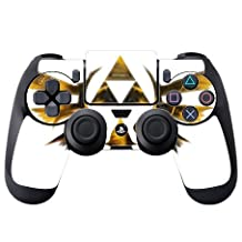 Trendy Accessories The Legend Of Zelda Triforce Symbol Silhouette Design Print Image PS4 DualShock4 Controller Vinyl Decal Sticker Skin