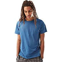 Rebel Canyon Young Men's Short Sleeve Crewneck Enzyme Washed Cotton T-Shirt