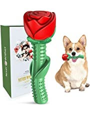 ucho Dog Chew Toys Rose Dog Toys for Teething Dogs Indestructible Tough Durable Dog Toothbrush Toys for Small Medium Dogs Puppy Birthday Gift Training Pool Floating Chew Toys
