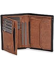 DONBOLSO® Geldbörse Wien I Großes Portemonnaie für Herren I Geldbeutel aus Leder mit RFID-Schutz I Schwarz-Braun