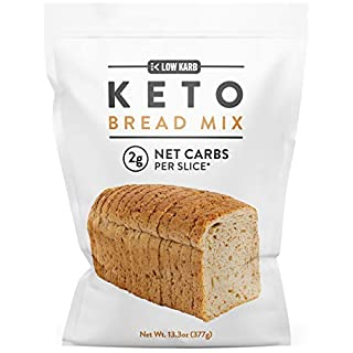 Low Karb - Keto Bread Mix - Only 2g Net Carbs per slice - Makes 1 Large Loaf - Low Carb Food - Easy Baking (13.3 oz) (1 Count)