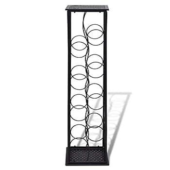 Daonanba Elegant Stylish Wine Cabinet Metal Wine Cabinet Rack Wine Stand Classic Romantic Home Decoration Style D (8 Bottles)