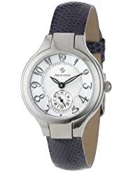 Philip Stein Womens 44-FMOP-ZLPR Stainless Steel Watch with Purple Leather Band