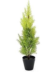 artplants.de Ciprés Artificial en Tiesto Decorativo, 60cm - Resistente a la Intemperie - Planta Artificial - árbol sintético