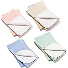 Head2Toe Washable Bed Pads / Reusable Incontinence Underpads 30x36 - 4 PACK - Blue, Green, Tan and Pink - Ideal For Children And Adults Wholesale Incontinence Protection