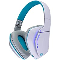 Wireless Bluetooth Headphones by Frisby | Foldable Portable On-Ear Headset w/ Hands-free Calling & Microphone for Smartphones, Tablets, Laptops & Desktop Computers - IOS Android - White