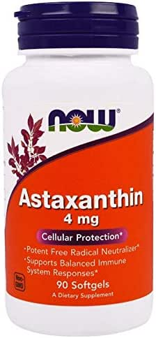 Astaxanthin 4 mg Carotenoid Antioxidant Eye Health 90 Softgels