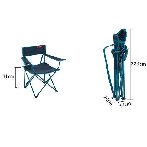 MJY Silla plegable Decathlon Outdoor, silla portatil Camping Barbecue Sketch, dos colores opcionales,segundo,
