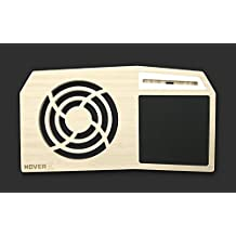 "Hover X+ - Ultimate Gamers LapDesk - Giant Gamers Mousepad - Heat Ventilation - Natural or Walnut Bamboo - Made in the USA (Extended - 17"" Laptops, Premium Natural Bamboo)"