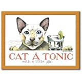 Castle Melamine Simon Drew Cat A Tonic Cushion Lap Tray by Castle Melamine