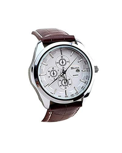 CCROSS Analogue Men's Watch (White Dial Brown Colored Strap) (B071L4LZDW) Amazon Price History, Amazon Price Tracker