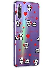 Oihxse Cristal Compatible con Motorola Moto G8 Funda Ultra-Delgado Silicona TPU Suave Protector Estuche Creativa Patrón Panda Protector Anti-Choque Carcasa Cover(Panda A7)