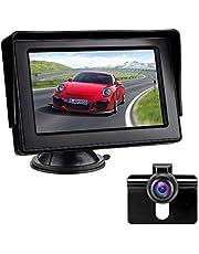 Achteruitrijcamerakit met 4,3-inch LCD-monitor Auto achteruitkijkcamera IP68 Waterdicht Nachtzicht Parkeerhulpsysteem voor bestelwagens, auto's, vrachtwagens, campers, 12V