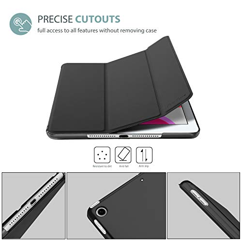 "ProCase iPad 10.2 Case 2020 iPad 8th Generation Case / 2019 iPad 7th Generation Case, Slim Stand Hard Back Shell Protective Smart Cover for 10.2"" iPad 8 / iPad 7 -Black"