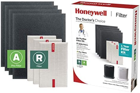 Honeywell True HEPA Filter Value Combo Pack for HPA300 Series Air Purifier, Grey, Model:HRF-ARVP300