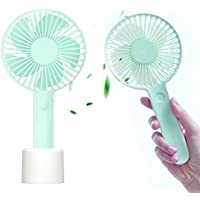 Siivton Mini Handheld Fan, Battery Operated Personal Portable Fan Desk Table Cooling Electric Fan with USB Rechargeable for Outdoor Camping Travel Home Office