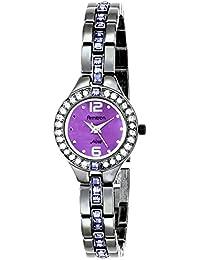 Women's 75/5205VMDG Purple Swarovski Crystal Accented Gunmetal Bracelet Watch