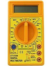 LCD Digital Multimeter Tester Meter Voltmeter Ammeter Ohmmeter Volt AC DC DT830 Yellow
