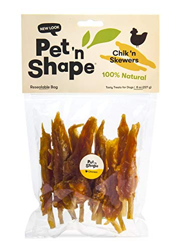 Pet 'n Shape Chik 'N Skewers - Chicken Wrapped Rawhide - All Natural Dog Treats, Chicken, 8 Oz