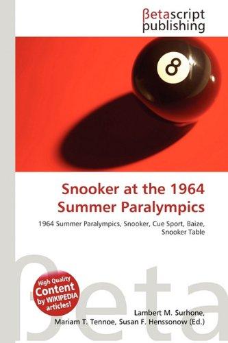 Snooker at the 1964 Summer Paralympics: Amazon.es: Surhone, Lambert M, Tennoe, Mariam T, Henssonow, Susan F: Libros en idiomas extranjeros