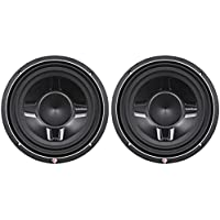 2) ROCKFORD FOSGATE P3SD4-10 10 1200 Watt Car Audio Shallow Subwoofers P3SD410