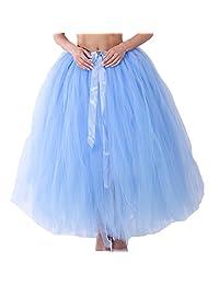 Dorchid Women Puffy Tutu Tulle Skirt Crinoline for Dance Maxi Plus Size
