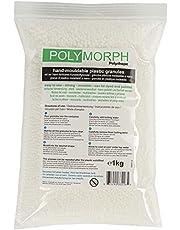 Polymorph Polyshape vormbare polymorph kunststof voor doe-het-zelver, vampiertanden SFX, modelleerkunststof, 1 kg