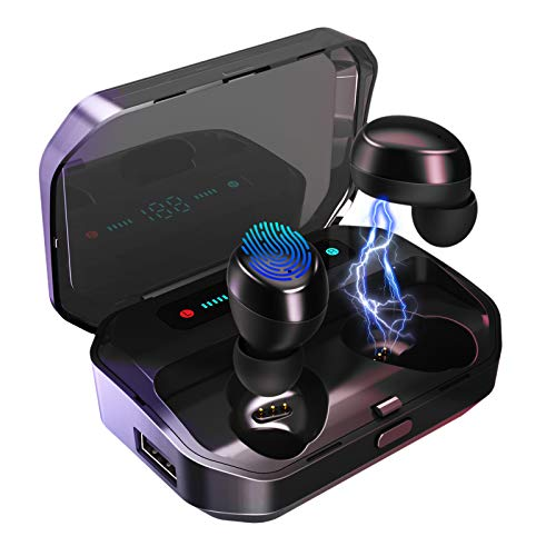 Wireless Earbuds, VOTOMY V20 Bluetooth 5.0 in-Ear Earphones 200H Playtime, 5D Stereo Sound, Mono/Share Mode, IPX7 Waterproof, 3500mAh Charging Case with CVC 8.0 Noise Cancelling for Sports, Work & Gym